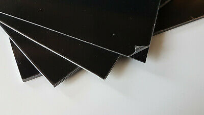 1, 1.5, 2 & 3mm thick Black Solid Polystyrene Matt/Gloss Plasticard bulk Qty