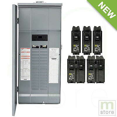 Square D 200 Amp Load Center Main Breaker Outdoor Panel 60-Circuit 30-Space