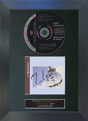 DIRE STRAITS Brothers in Arms Signed CD Mounted Autograph Photo Print 73