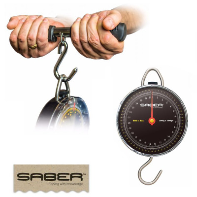 Saber Specimen Fishing Scales Weigh Up To 27K / 60Lb Carp Match Sea + Weigh Bar