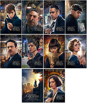 10pcs Fantastic Beasts and Where to Find them Promo Card Photo Card Sticker