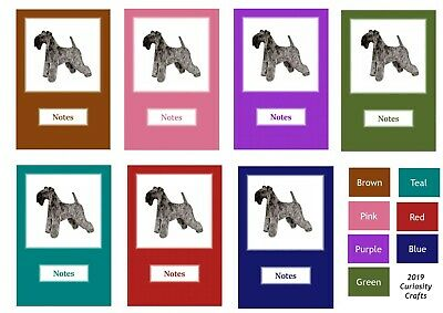 Kerry Blue Terrier Notebook by Curiosity Crafts