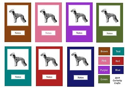 Bedlington Terrier Notebook by Curiosity Crafts