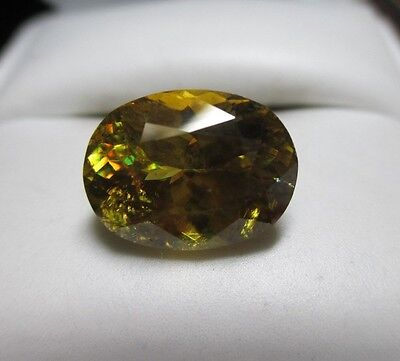 Glittering 6.85ct Incredible Natural Sphene! Wonderful Rainbow Flashes