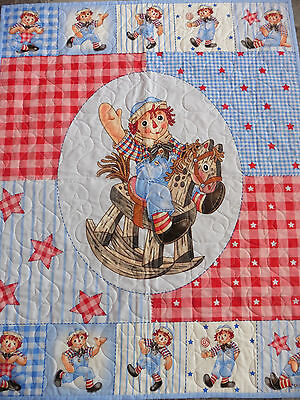 Handcrafted Raggedy Andy Horse Quilt - Stars Quilted all over - SEE PICS