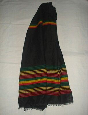Rasta color Green Yellow Red Stripe Scarf Ethiopian Traditional Cotton Clothe