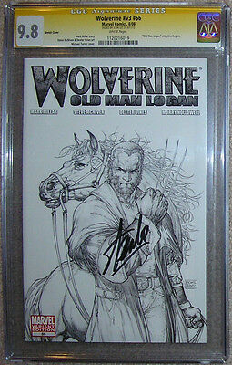 Wolverine 66 CGC SS 9.8 NM/MT  Old Man Logan pt 1 rare sketch cover var Stan Lee