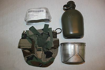 US Military Issue Canteen Cup and Cover with Stove Complete Set Lot