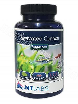 NT LABS ACTIVATED CARBON 120g, WITH FILTER BAG, MEDIA, REMOVES IMPURITIES, CLEAR