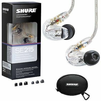ShureSE215-CL Sound-Isolating In-Ear Stereo Earphones (Clear)