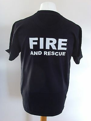 Fire And Rescue Service T Shirts - Ukfrs - Fire Brigade Printed T Shirts