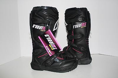 Open Box 2014 O'Neal Element Womens MX Off-Road Boots Black/Pink Size 6