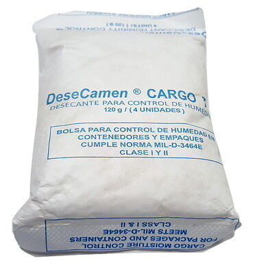 120 Gram Silica Gel Desiccant Packets - 3 Packs (FDA Approved Tyvek) CAMEN