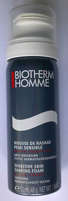 Bombe Mousse A Raser Anti-Irritations Peaux Sensibles Homme 50 Ml Neuf