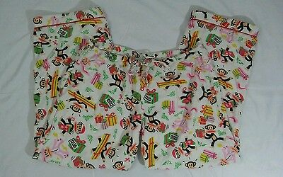 Julius the Monkey Paul Frank Xmas Gift Giving Women/Junior Sleepwear Pants Sz XS