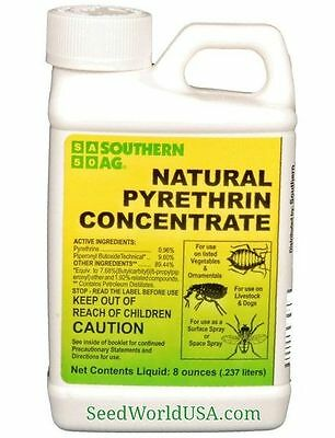Pyrethrin Concentrate Insecticide for vegtables and ornamentals-  - 8 oz