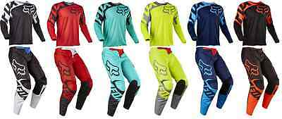2017 Fox Racing 180 Race Pant & Jersey Riding Gear Combo Dirtbike Mx Atv Offroad