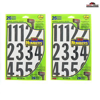 """Black On White MM-4N HyKo Products Co 20400730 Numbering Kit 3/"""""""