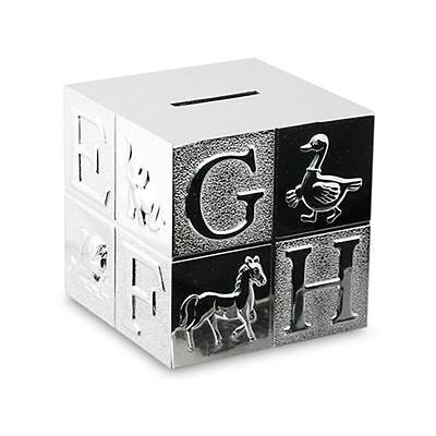 Whitehill - Silver Plated EP Cube Money Box