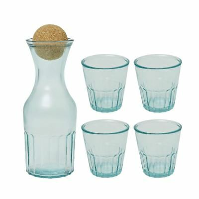 Jamie Oliver - Recycled Glass Carafe and 4 Tumbler set (Made in Spain)