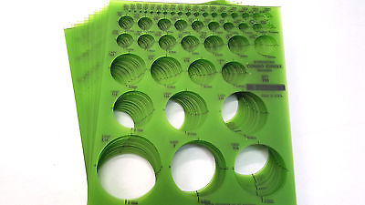 STAEDTLER Combo Circle Templates, #977 110, 20  Pieces, 45 Circles, NEW, USA