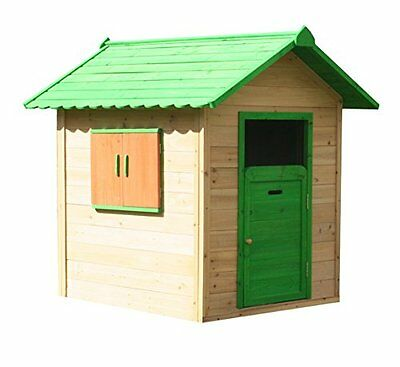 Chestnut Pre-Painted Wooden Playhouse – Easy Assembly Children's Outdoor Wendy x