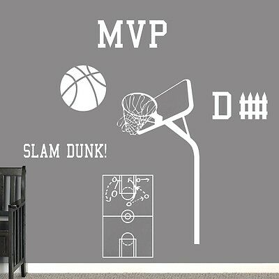 Basketball Set Wall Decals Wall Stickers