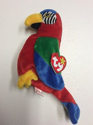 e0d17f227df TY BEANIE BABY Jabber the Parrot Tag Error CHRISTMAS Free Shipping ...