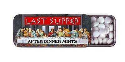 Last Supper After Dinner Mints in Tin Box...Christian...Jesus...Approx 100 Mints