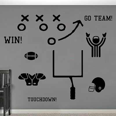 Football Set Wall Decals Wall Stickers