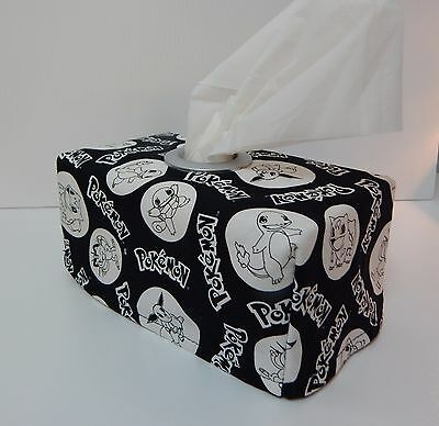 Pokemon Black Tissue Box Cover With Circle Opening - Lovely Gift Idea