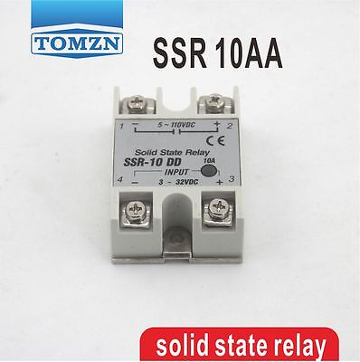 10AA SSR input 80-250V AC load 24-380V AC single phase AC solid state relay