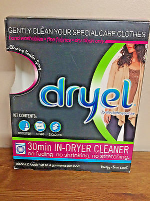 Dryel 30 Min. In-Dryer Cleaner Starter Dry Cleaning Kit Breezy Clean Scent Usa