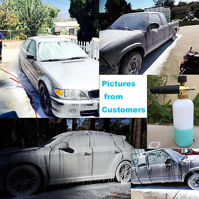 "Quality 1L 1/4"" F Inlet Snow Foam Lance Washer Car Wash Gun Soap Washer Bottle E"