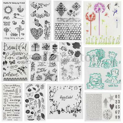 Christmas Gift Flower Clear Stamp Seal Sheet DIY Scrapbooking Album Decor Craft