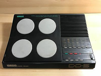 1989 Yamaha DD-5 Digital Bateria Electronic MIDI Vintage Drums Machine 4 Pads