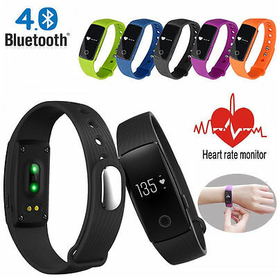 New ID107 Smart Bracelet Watch Heart Rate Monitor Bluetooth 4.0 Wrist Band HJ