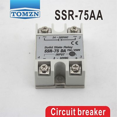 75AA SSR input 80~250VAC load 24-380V AC single phase AC solid state relay