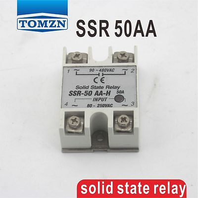 50AA SSR input 80~250VAC load 24-380V AC single phase AC solid state relay