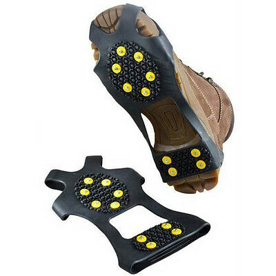 1 Pair Non-slip Snow Cleats Studded Ice Traction Shoe Covers Spike Sport Goods