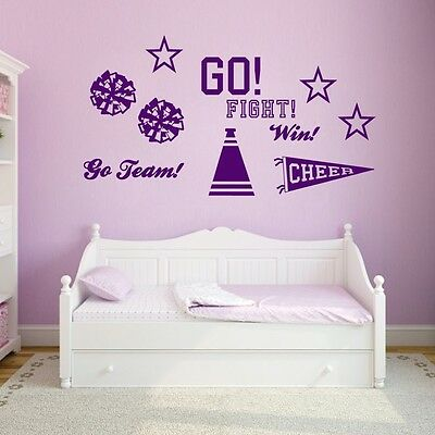 Cheerleading Set Wall Decals Wall Stickers