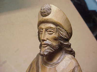 #671 Antique Carved Wood Wise Man One-Of-A-Kind Sculpture