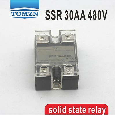 30AA SSR input 90-250V AC load 24-480V AC High voltage AC solid state relay