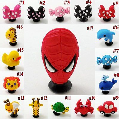 1pcs 3D Bowknot/Bee/Spiderman/Dolphin/Crab Shoe Charm For Croc/Jibitz/Wristbands