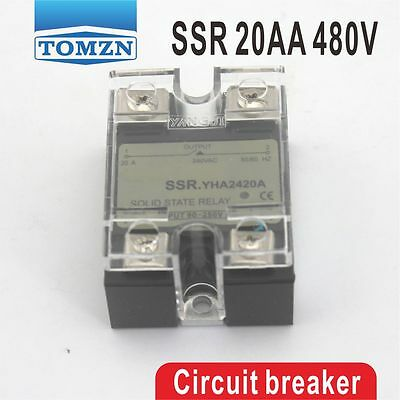 20AA SSR input 90-250V AC load 24-480V AC High voltage AC solid state relay