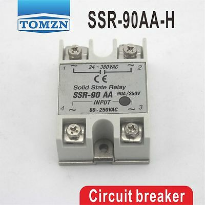 SSR 90AA-H High voltage type input 80-250V AC load 24-380V AC solid state relay