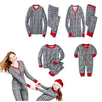 Christmas Pyjamas Children Adult Family Matching Pajamas Cotton Sleepwear