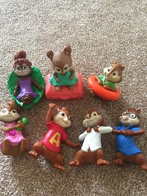 Alvin and the Chipmunks  & Chipettes McDonalds toy figure  lot