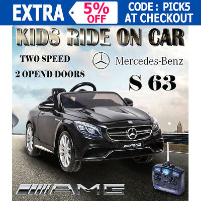 Licensed Mercedes Benz S63 AMG Kids Electric Ride on Car Children Toy Battery OZ