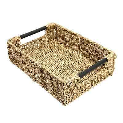 WoodLuv Large Seagrass Storage Basket With Handle - SAME DAY DISPATCH